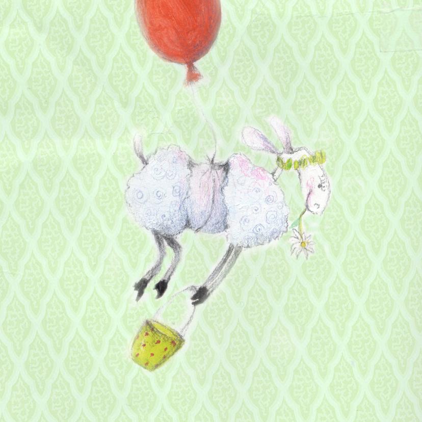 Dierenkaarten - Dierenkaart lente schaapje