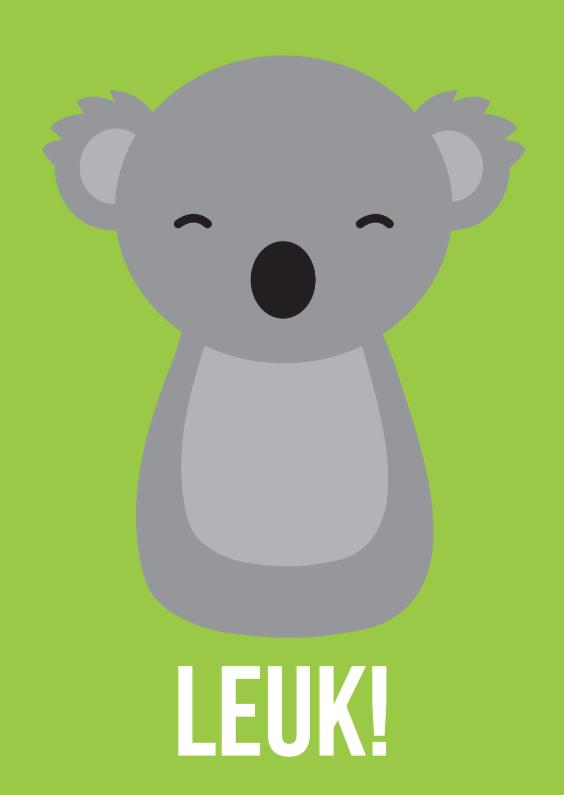 Dierenkaarten - Dierenkaart Leuke Koala
