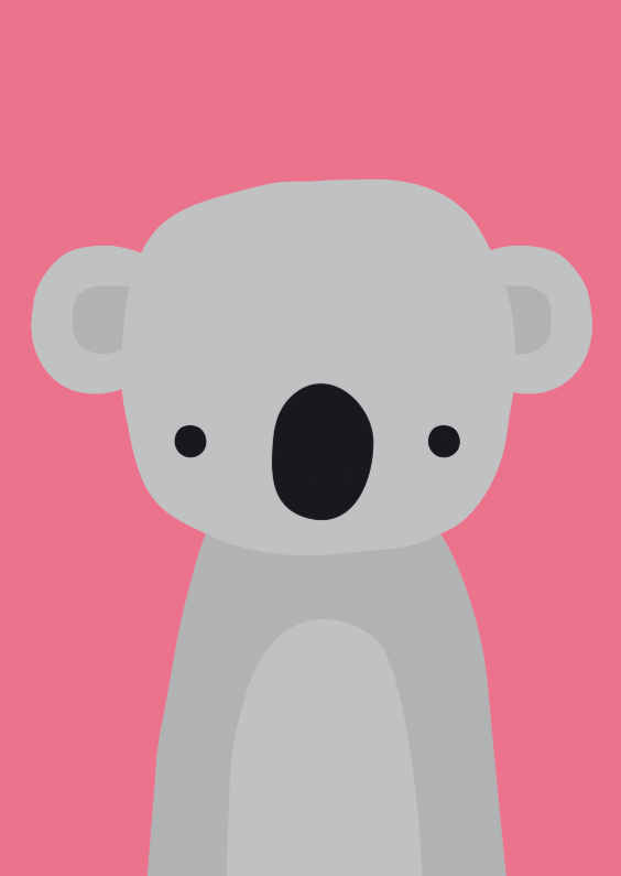 Dierenkaarten - Dierenkaart Lieve Koala
