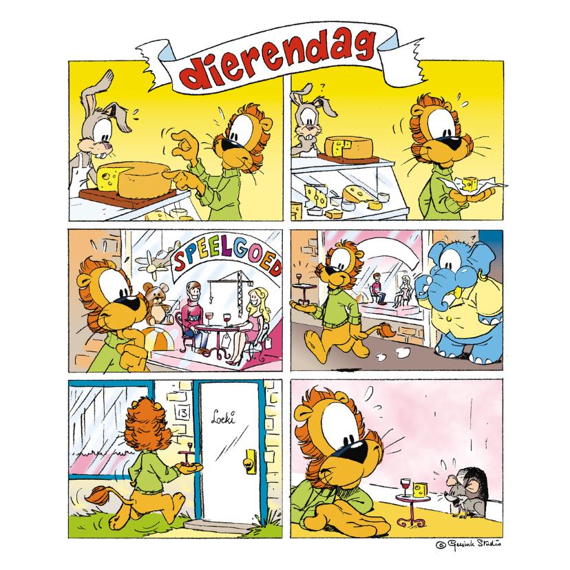 Dierenkaarten - Dierenkaart Loeki strip dierendag - A