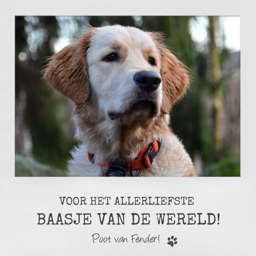 Dierenkaarten - Dierenkaart met eigen foto voor het allerliefste baasje