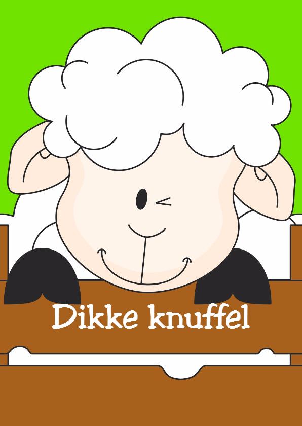 Dierenkaarten - Dikke knuffel van schaapje!
