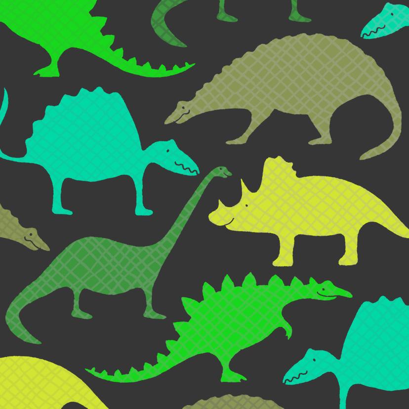Dierenkaarten - Dinosauriërs Groen
