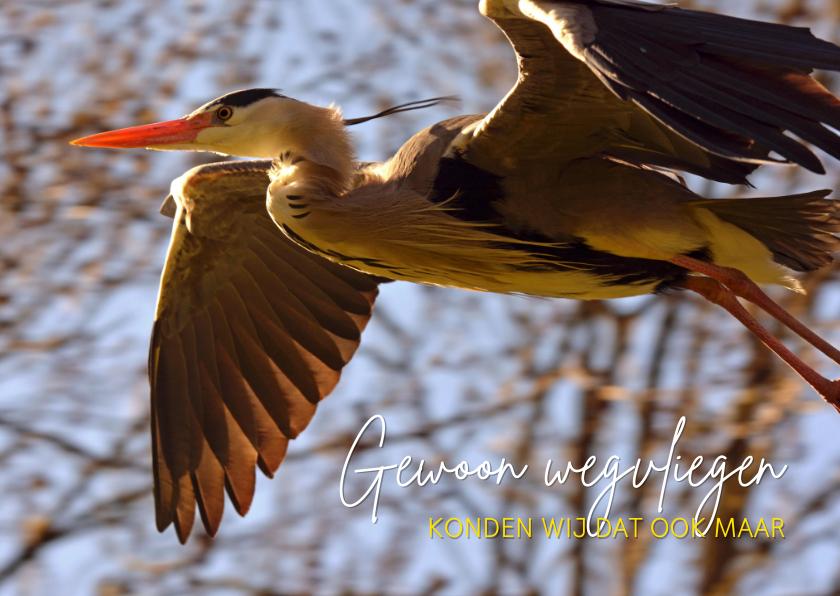 Dierenkaarten - Gewoon wegvliegen