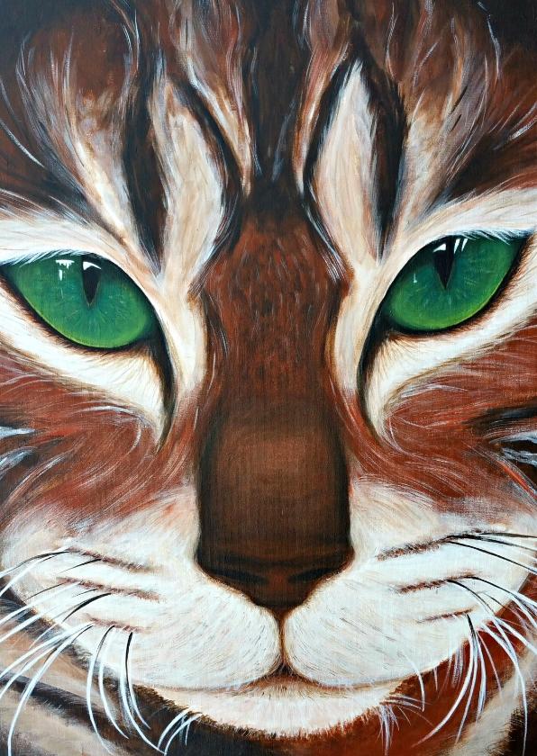 Dierenkaarten - Kat met de groene ogen