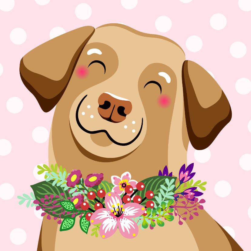 Dierenkaarten - Lieve hond verjaardagskaart