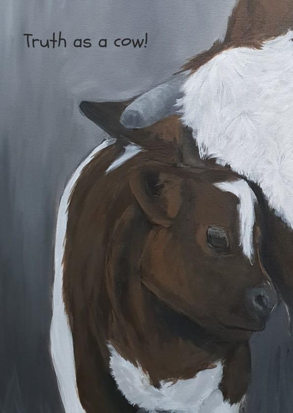 Dierenkaarten - Moeder koe en kalfje