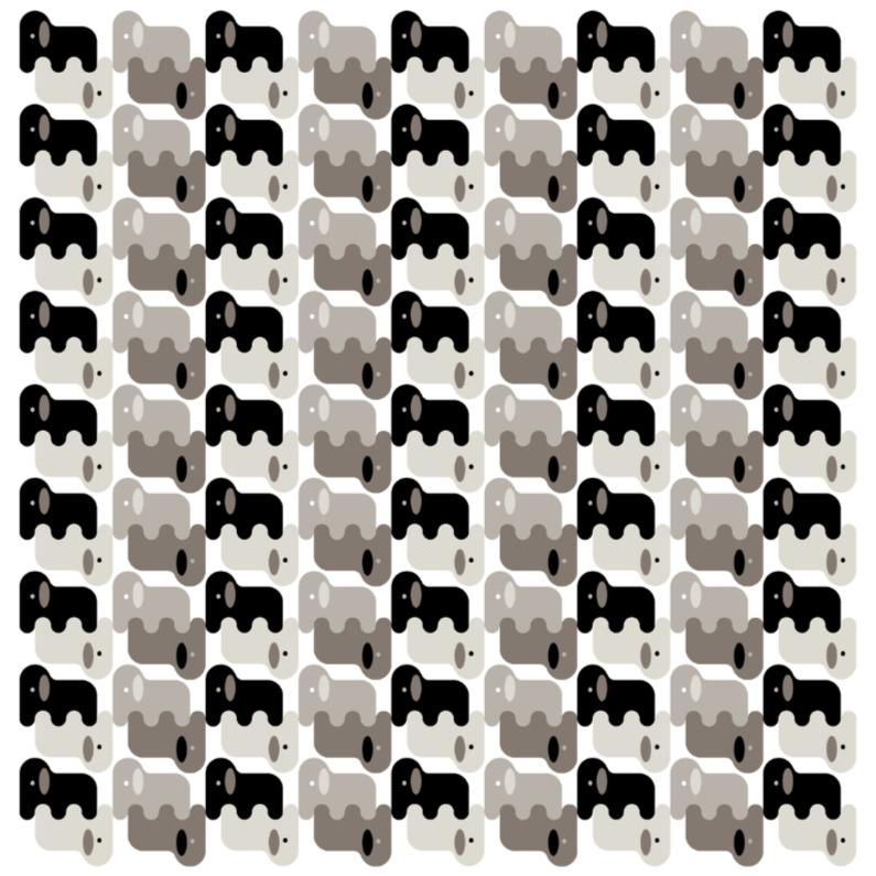 Olifanten in zwart wit en grijs dierenkaarten kaartje2go - Wit behang en grijs ...