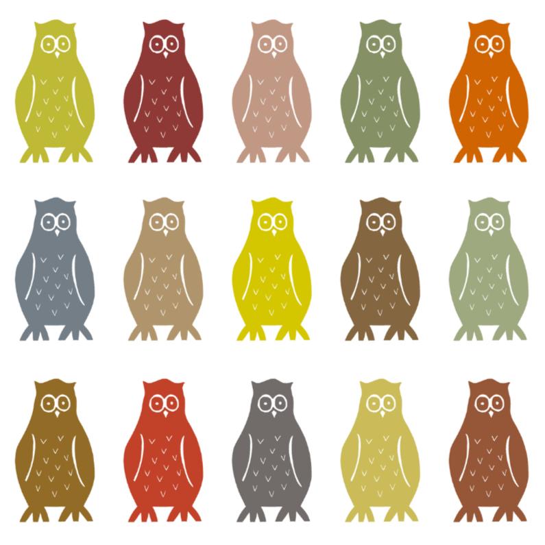 Dierenkaarten - Uilen patroon bruin