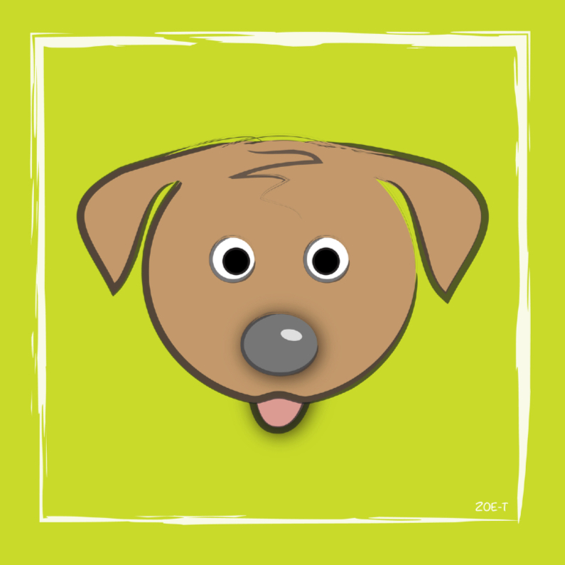 Dierenkaarten - zoe-t hond