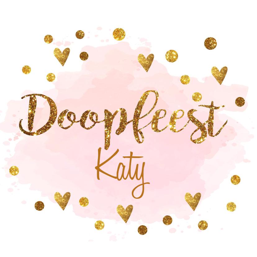 Doopkaarten - confetti doopkaart