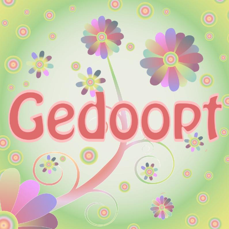 Doopkaarten - flowerpower-gedoopt