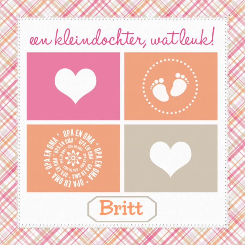 Felicitatiekaarten - 12056 Felicitatiekaart Kleindochter