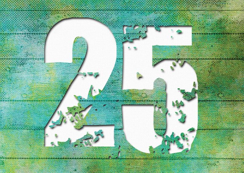 Felicitatiekaarten - 13129 Huwelijksjubileum 25 jaar
