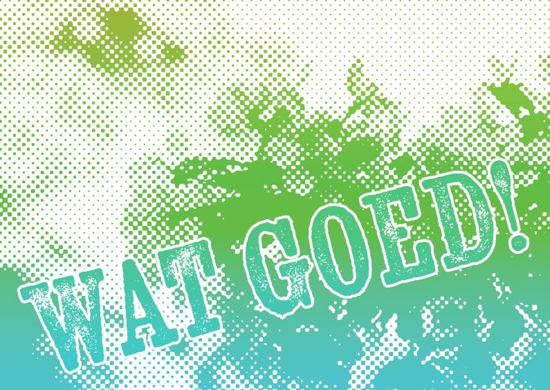 Felicitatiekaarten - 15273 Wat goed!