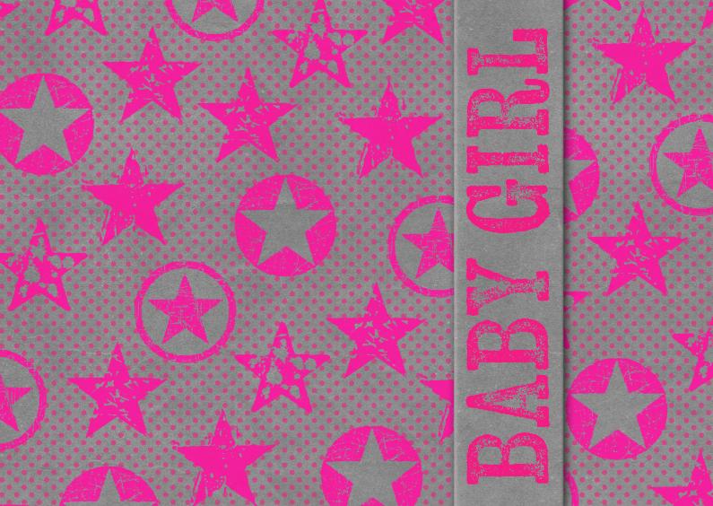 Felicitatiekaarten - 15295 Baby girl neon pink