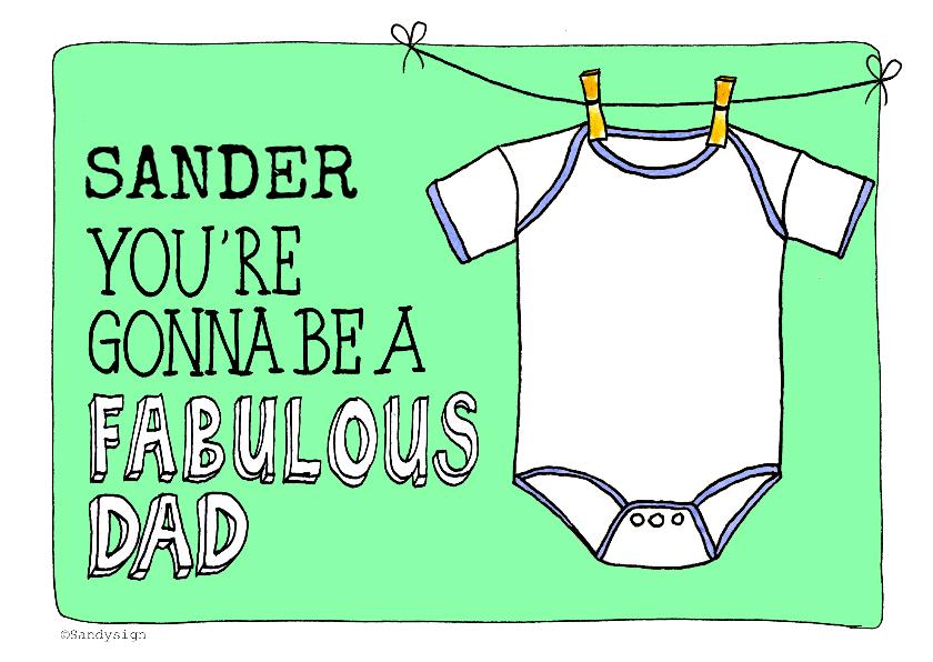 Felicitatiekaarten - Felicitatie zwanger vader quote - SD