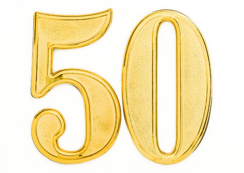 Felicitatiekaarten - 50 jaar getrouwd - gouden bruiloft