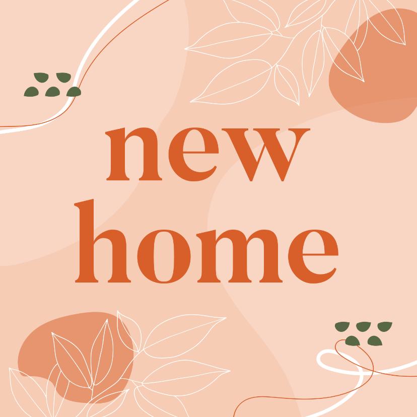 Felicitatiekaarten - Abstract felicitatiekaartje New Home