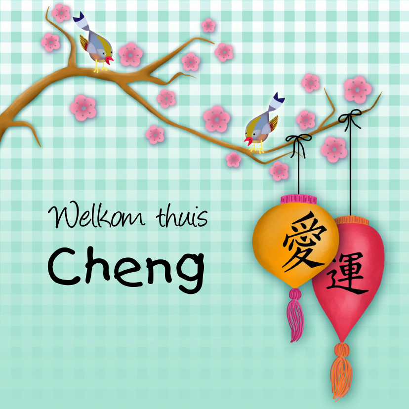Felicitatiekaarten - Adoptiekaartje from China