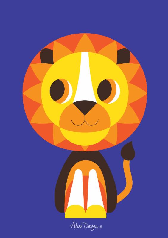 Felicitatiekaarten - ANIMALS-lion