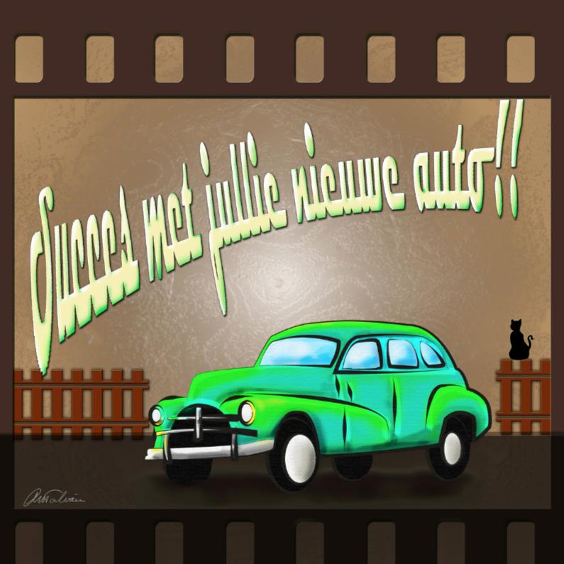Felicitatiekaarten - Auto B