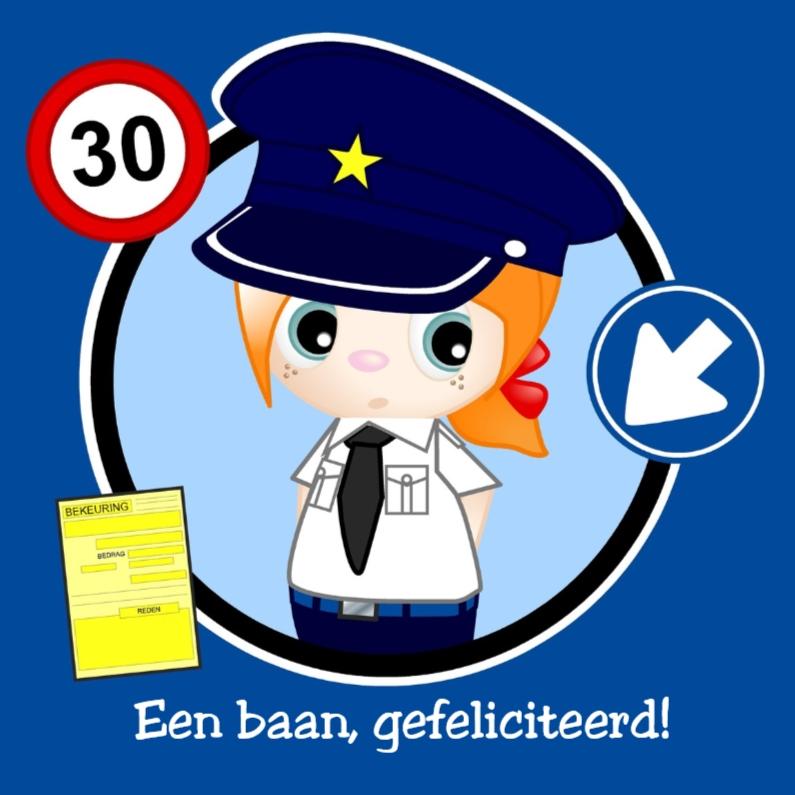 Felicitatiekaarten - Baan bij de politie