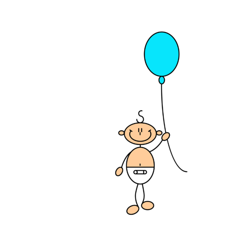 Felicitatiekaarten - Baby jongen met ballon