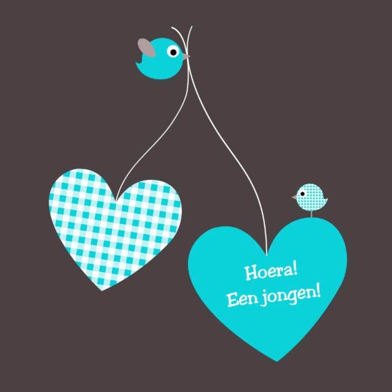 Felicitatiekaarten - Ballonharten met vogeltjes