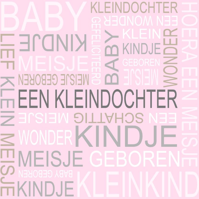 Felicitatiekaarten - Bar creatief - Kleindochter tekst