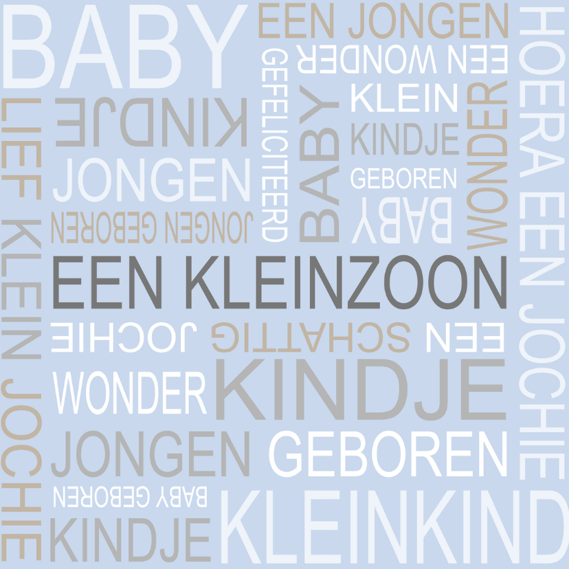 Felicitatiekaarten - Bar creatief - Kleinzoon tekst