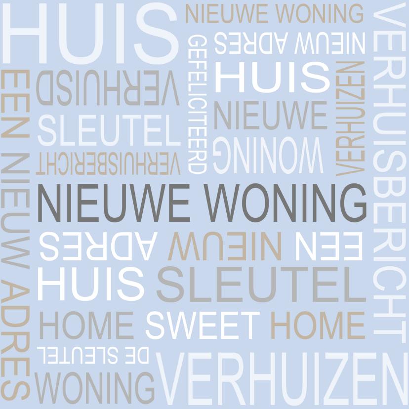 Felicitatiekaarten - Bar creatief - Nieuwe woning tekst 3