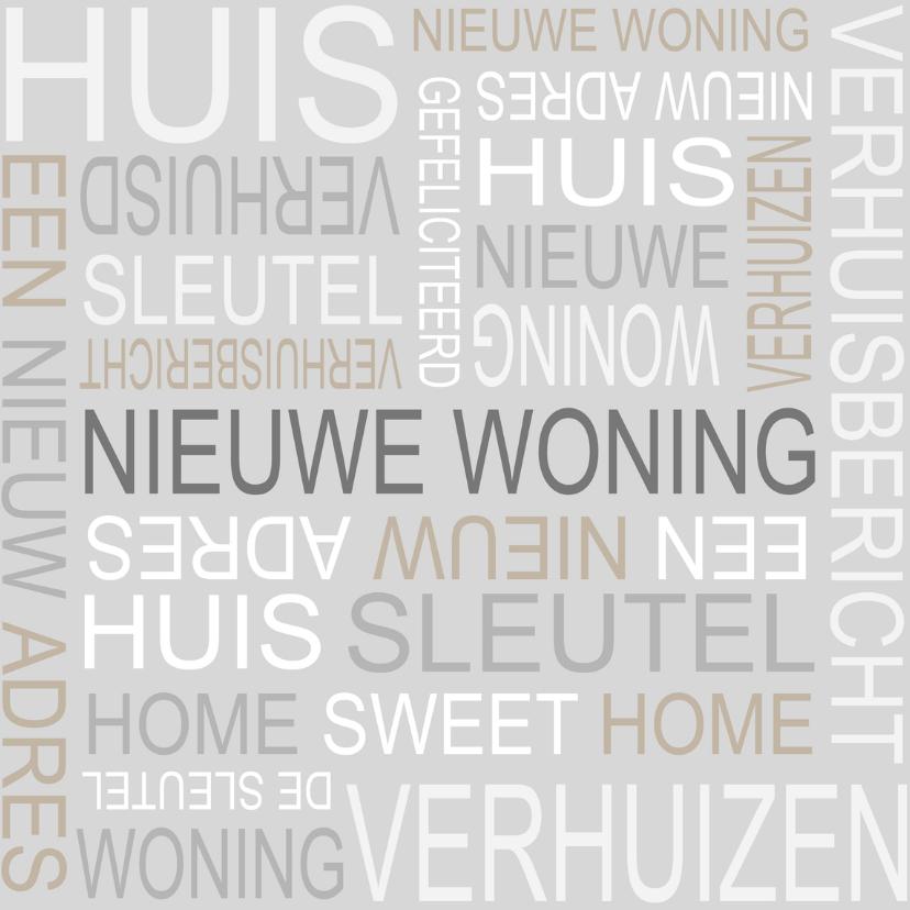 Felicitatiekaarten - Bar creatief - Nieuwe woning tekst 4