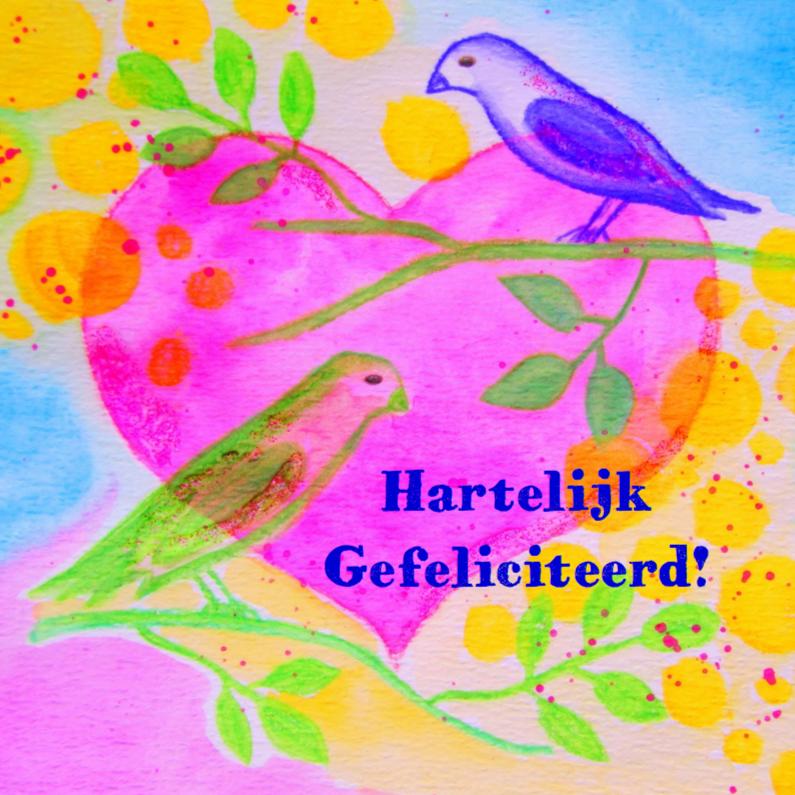 Felicitatiekaarten - Birds & Heart