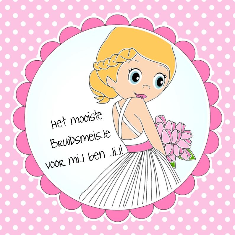Felicitatiekaarten - Bruidsmeisje-EvG
