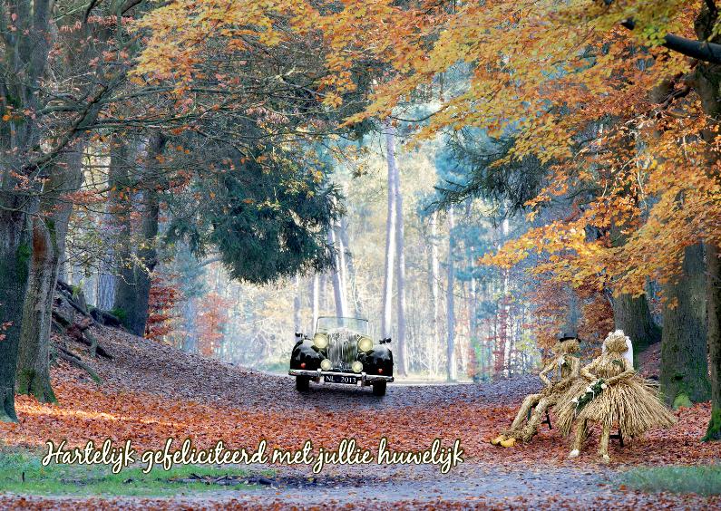 Felicitatiekaarten - Bruidspaar puur natuur