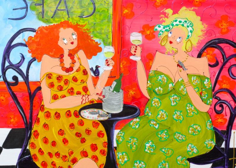 Felicitatiekaarten - 'Café de Paris'