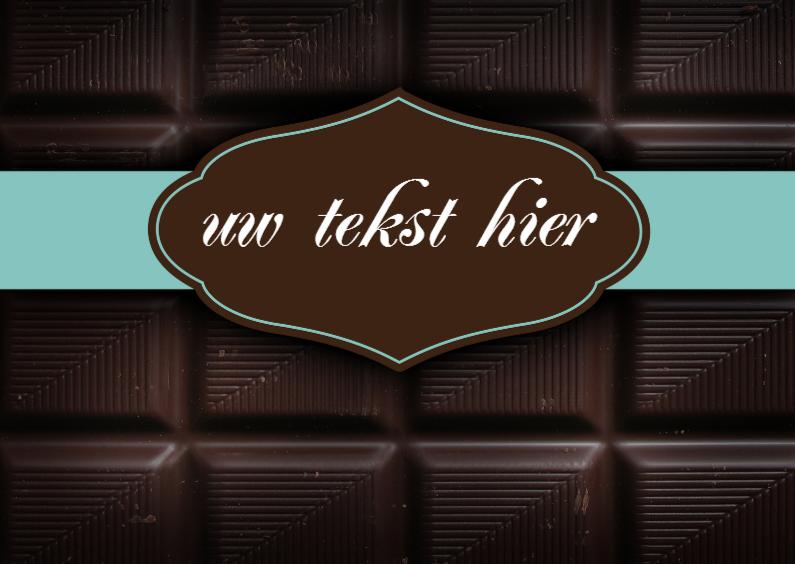 Felicitatiekaarten - Chocoladereep felicitatiekaart