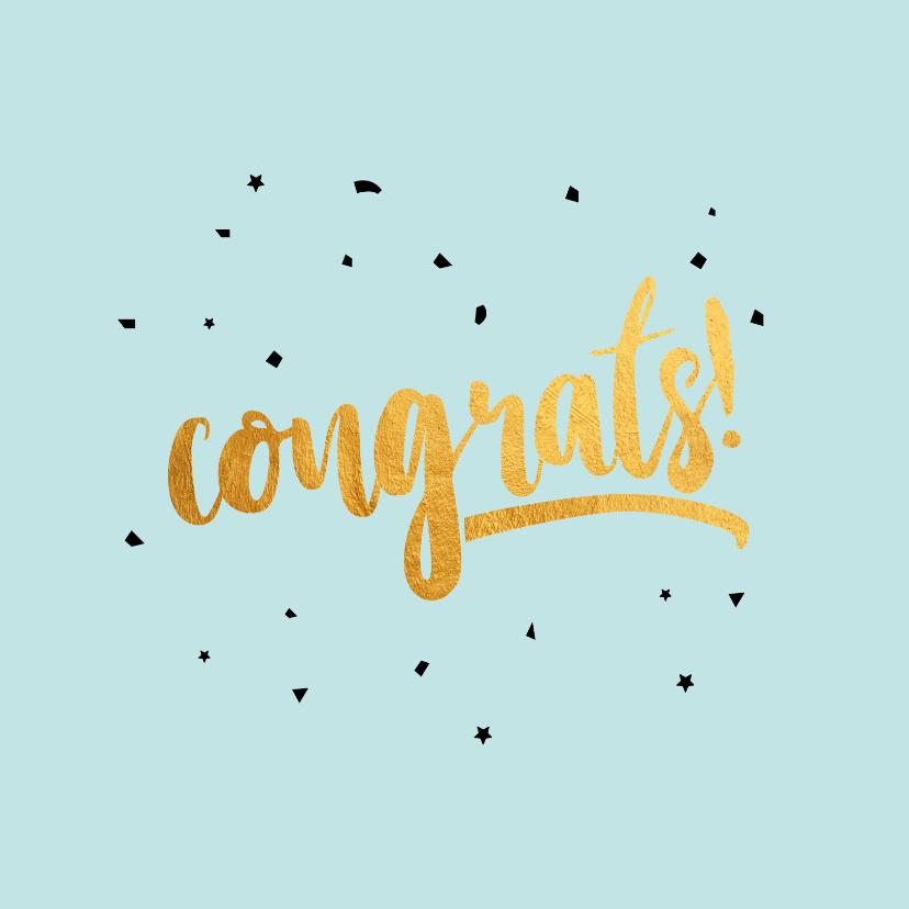 Felicitatiekaarten - Congrats  gold felicitatiekaart