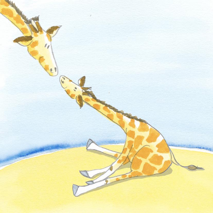 Felicitatiekaarten - Dag girafje