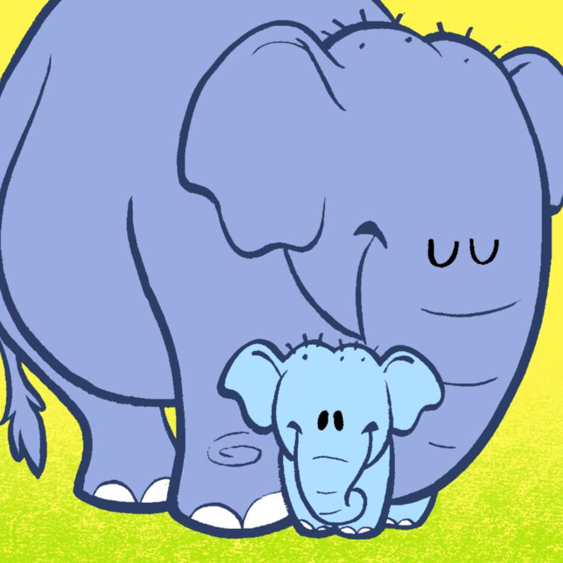 Felicitatiekaarten - Diertjes - jongen olifant