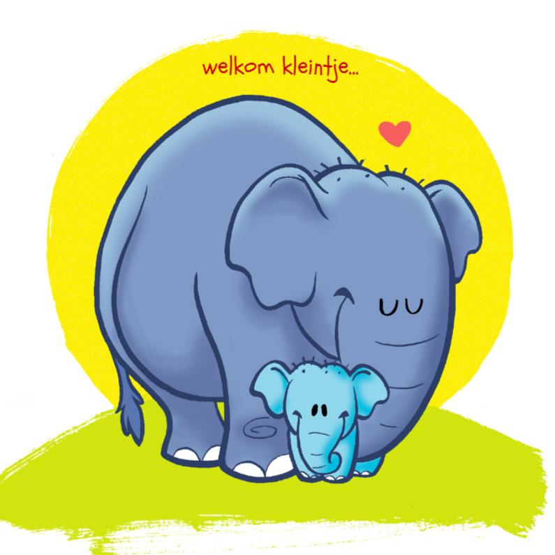 Felicitatiekaarten - Diertjes - olifant jongen