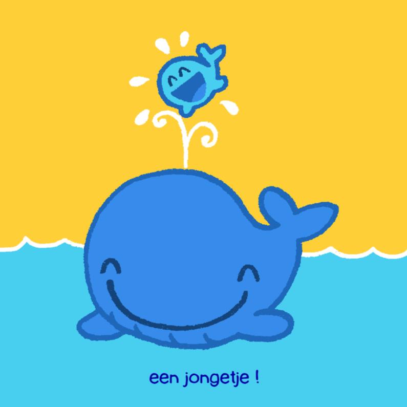 Felicitatiekaarten - Diertjes - walvis jongen