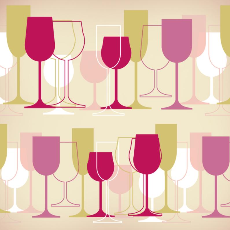 Felicitatiekaarten - Divers wijnglazen 1