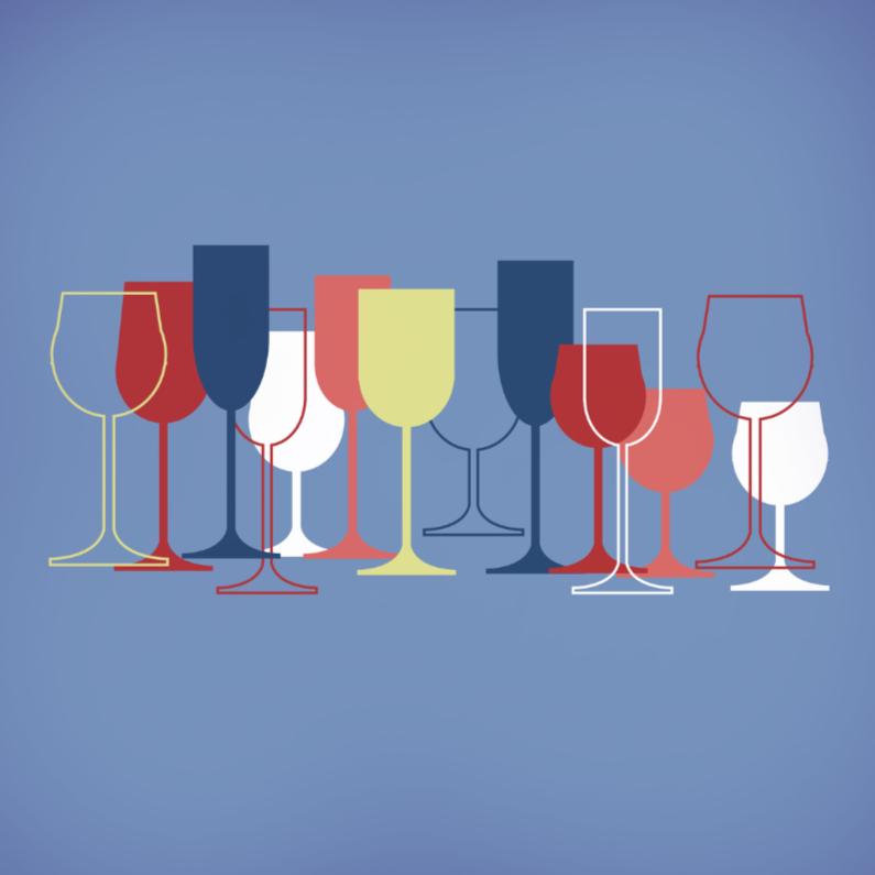 Felicitatiekaarten - Divers wijnglazen 2