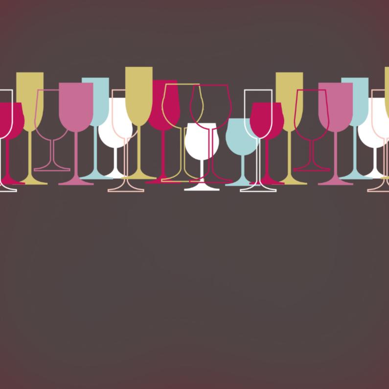 Felicitatiekaarten - Divers wijnglazen 3