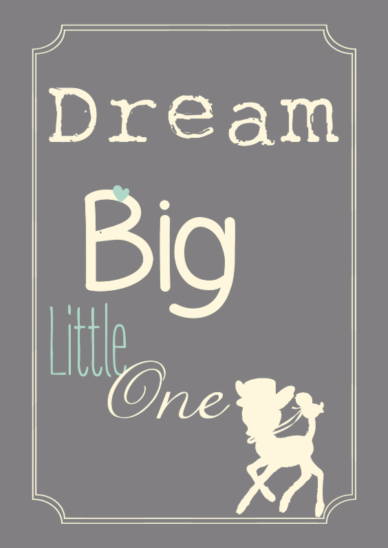 Felicitatiekaarten - Dream Big Little one