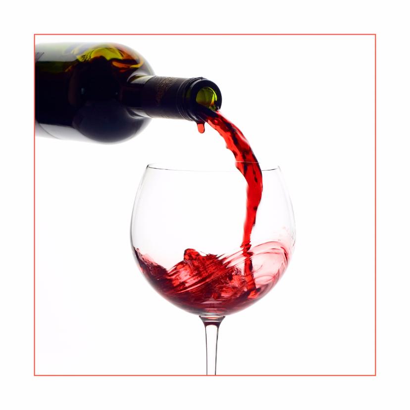 Felicitatiekaarten - Feestkaart Lichte rode wijn