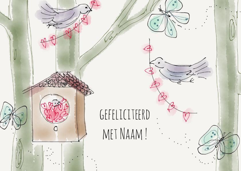 Felicitatiekaarten - Feliciatiekaart Vogels