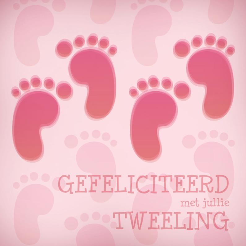 Felicitatiekaarten - Felicitatie 2 meisje voet 3